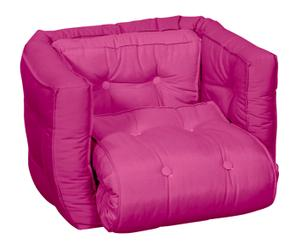 Sillón convertible en cama futón Baby Dice - rosa
