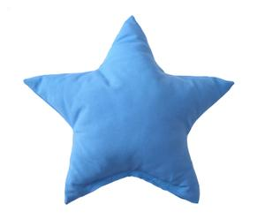 Cojín de algodón y poliéster Star, azul – 45x45cm