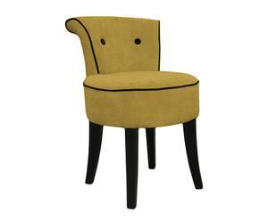Butaca Thomas Chair – dorado y negro