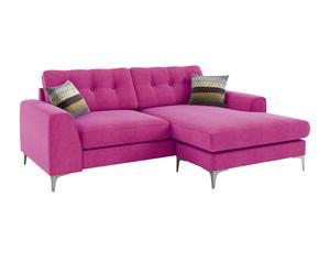 Sofá con chaise longue en madera de haya Ebony – rosa