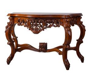 Consola isabelina en madera de caoba