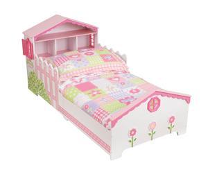 Estructura de cama infantil en madera Casa de muñecas