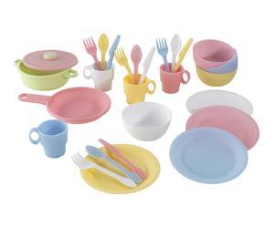 Set de vajilla de juguete en plástico - 27 piezas