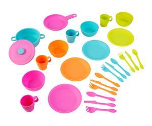 Set de vajilla y utensilios de Coccina de juguete de juguete en plástico – 27 piezas