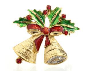 Broche de cristales de Swarovski Campanas - dorado