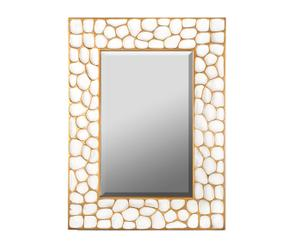 Espejo de resina, crema y oro – 98x131 cm