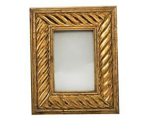 Marco de fotos de resina y cristal Italica, dorado - 15x20 cm