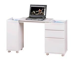 Escritorio con ruedas en madera DM Laptop - blanco