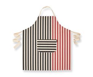Delantal de cocina – negro y rojo