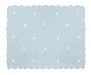 Mantita hecha a mano en algodón Crochet, azul – 120x90cm