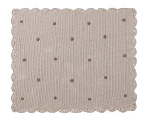 Mantita hecha a mano en algodón Crochet, gris – 120x90cm