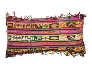 Cojín bereber de lana y relleno de plumas y espuma - 34x57 cm