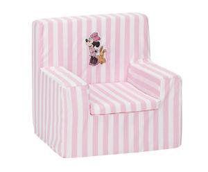 Sillón infantil de algodón Minnie  - rosa y blanco
