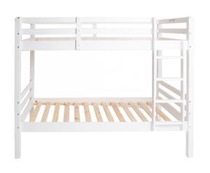 Estructura de cama litera en madera de pino maciza - blanco
