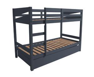 Estructura de cama litera con somier - gris antracita