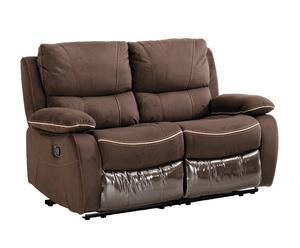Sofá reclinable de 2 plazas Relax - moca y visón