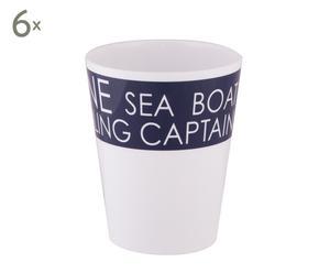 Set de 6 vasos grandes Sea