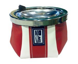 Cenicero con tapa Sport - rojo y blanco