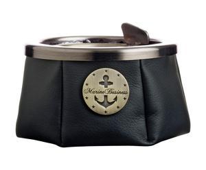 Cenicero con tapa Premium - negro
