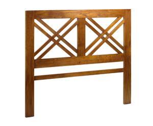Cabecero en madera de mindi Star - 165x140 cm