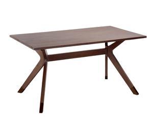 Mesa de comedor de madera de mindi Spartan