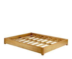Estructura de cama para tatami en madera de mindi – natural