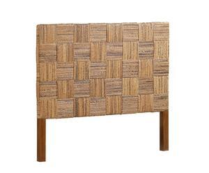 Cabecero en madera de mindi y teca, natural - 165x145 cm