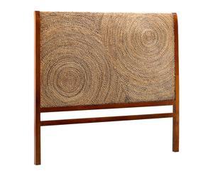Cabecero en madera de mindi y ratán Circle - 160x150 cm