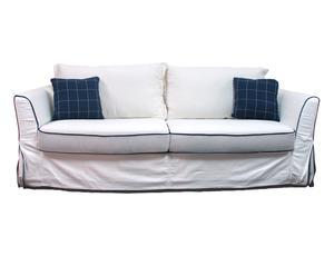 Sofá de 3 plazas desenfundable en madera de pino y poliéster