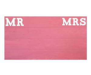 Cabecero de cama - Mr&Mrs , rosa pastel - 150x80 cm
