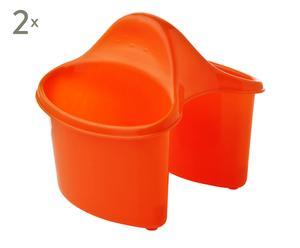 Set de 2 escurridor para cubiertos en plástico - naranja