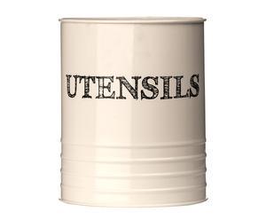 Tarro de metal portautenislios Sketch Utensil – crema