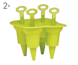 Set de 2 moldes para helado Lolly Maker - verde lima