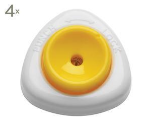 Set de 4 perforadores de huevo - blanco y amarillo