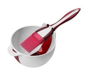 Set de bol y pincel de cocina - rojo