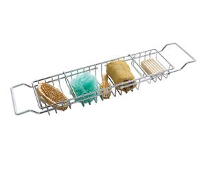 Bandeja para bañera extensible en cromo - plata