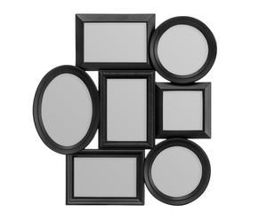 Portafotos múltiple de pared - negro