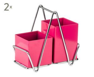 Set de 2 escurridores para cubiertos Caddy - rosa