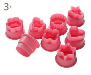 Set de 24 cortadores para postres - rosa