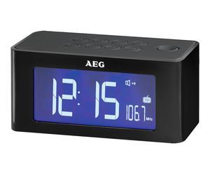Radio despertador AEG MRC4140 – negro