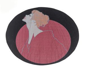 Plato de pizarra Jasmín, redondo - Ø15 cm