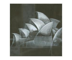 Lienzo Abstract Gris II - 75x75 cm