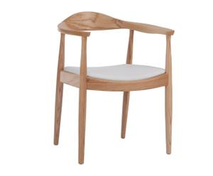 1x Sillón nórdico asiento blanco - ES15RJM04-179