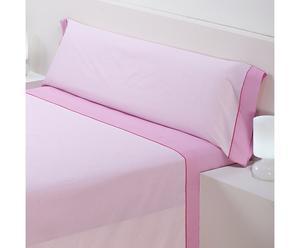 Juego de sábanas, rosa – cama de 90 II
