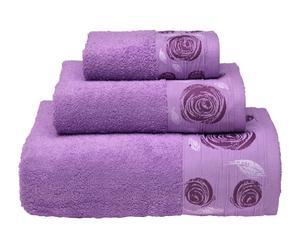 Juego de toallas de algodón, 550 gr – morado I