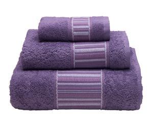 Juego de toallas de algodón, 550 gr – morado IV