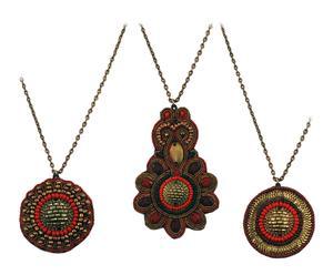 Set de 3 collares hechos a mano en resina