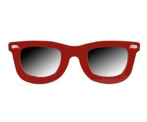 Espejo con forma de gafas en metal – rojo