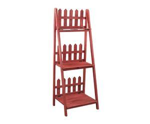 Estantería en madera Escalera - rojo