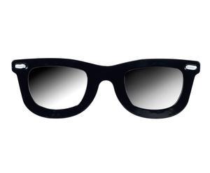 Espejo de pared en forma de gafas de metal – negro